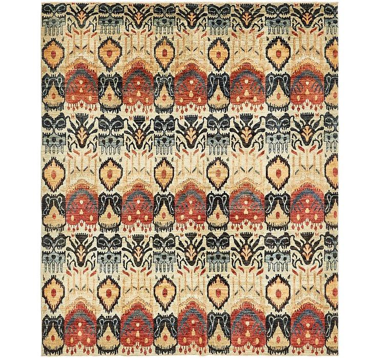 7' 10 x 9' 6 Ikat Oriental Rug