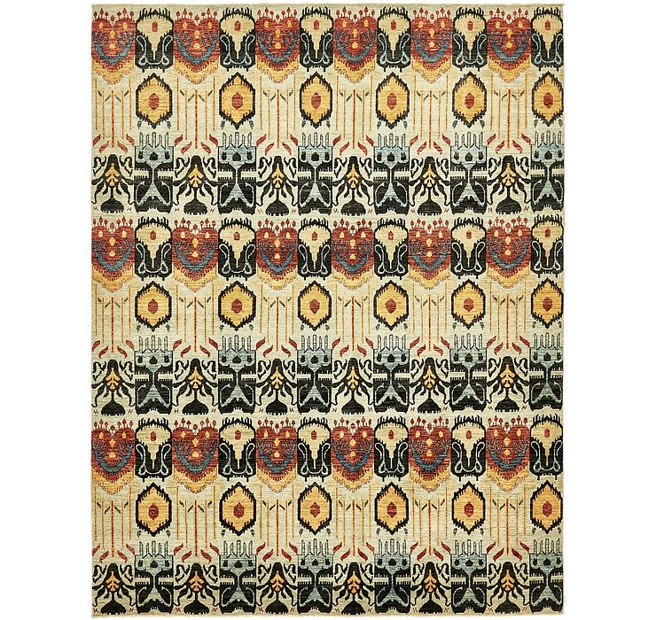 9' x 11' 8 Ikat Oriental Rug