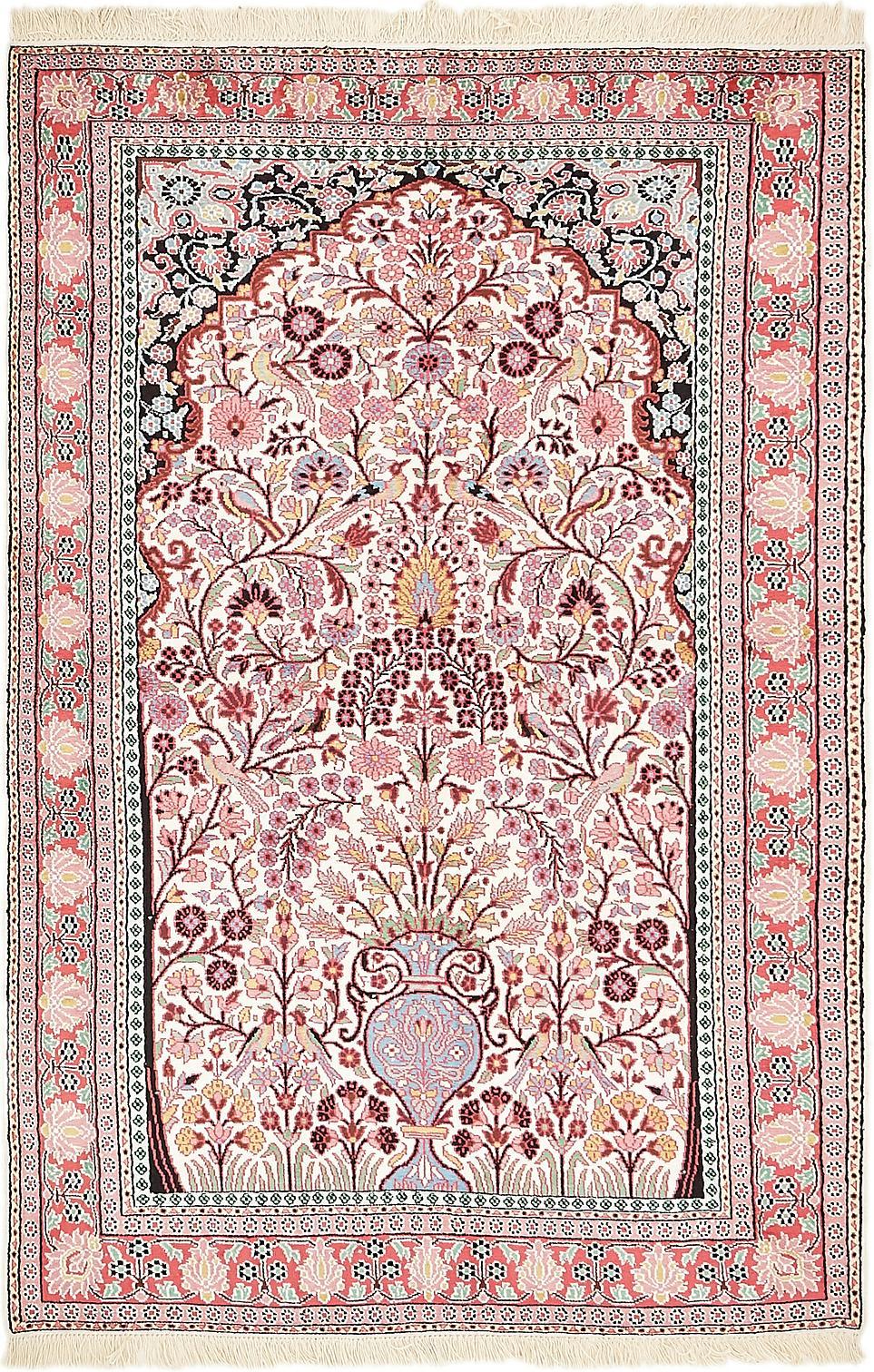 Ivory 4 X 6 2 Kashmir Oriental Rug Oriental Rugs Irugs Uk