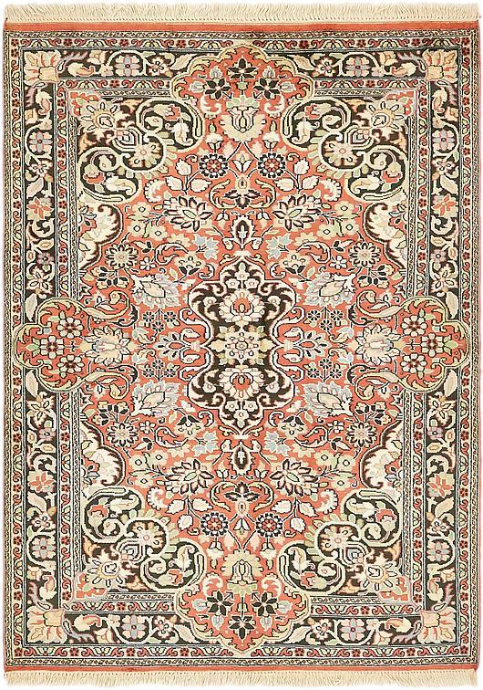 Peach 4 4 X 6 Kashmir Oriental Rug Oriental Rugs Esalerugs