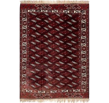 213x320 Afghan Akhche Rug
