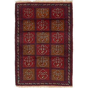 Unique Loom 3' x 4' 4 Balouch Persian Rug