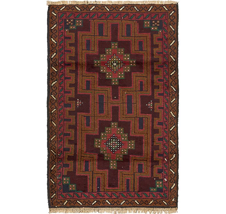 HandKnotted 3' x 4' 7 Balouch Persian Rug