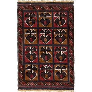 Unique Loom 3' x 4' 6 Balouch Persian Rug