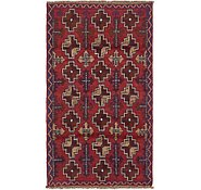 Red 2 10 X 5 9 Balouch Persian Rug Area Rugs Esalerugs