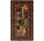 Link to 3' 5 x 5' 4 Balouch Persian Rug