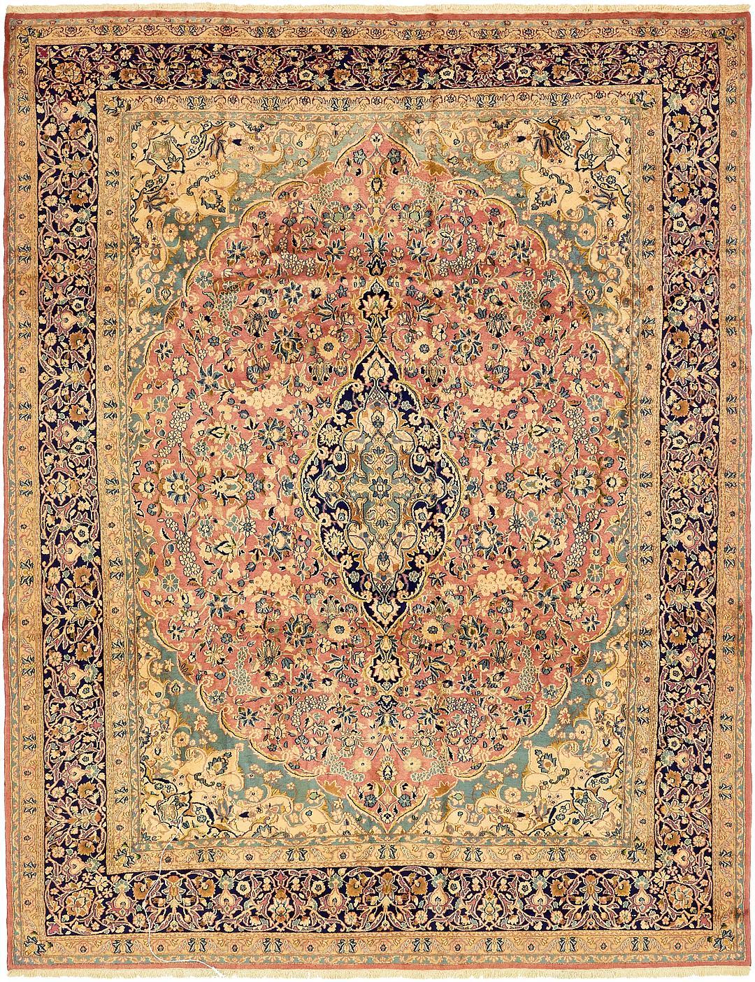 Main Handknotted 9 7 X 12 5 Kerman Persian Rug Photo