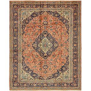 9' 10 x 12' 7 Kashan Persian Rug