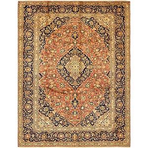 9' 8 x 12' 9 Kashan Persian Rug