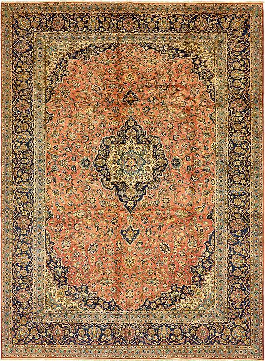 Rust Red 10 X 13 4 Kashan Persian Rug Persian Rugs