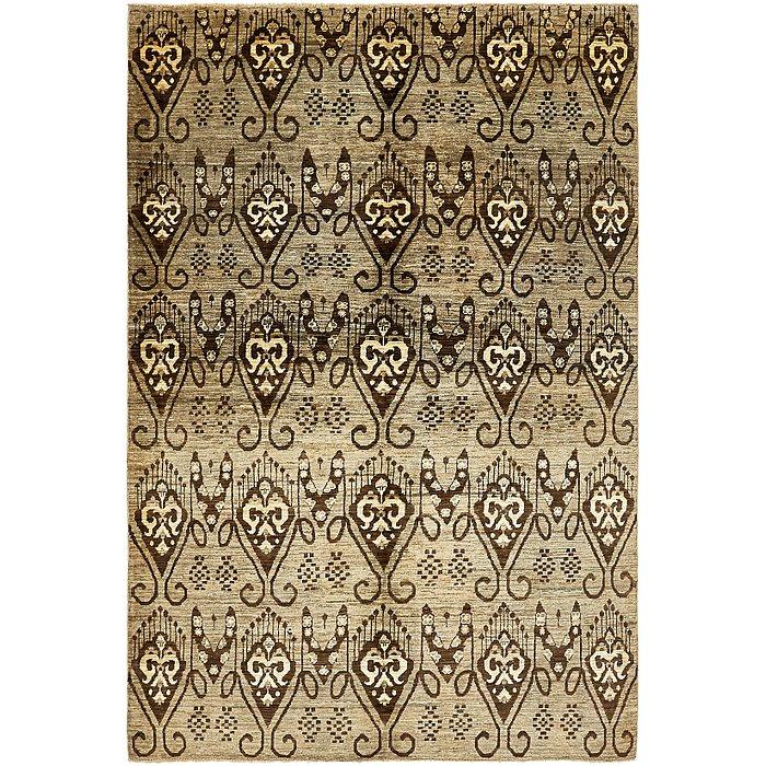 5' 6 x 8' 4 Ikat Oriental Rug