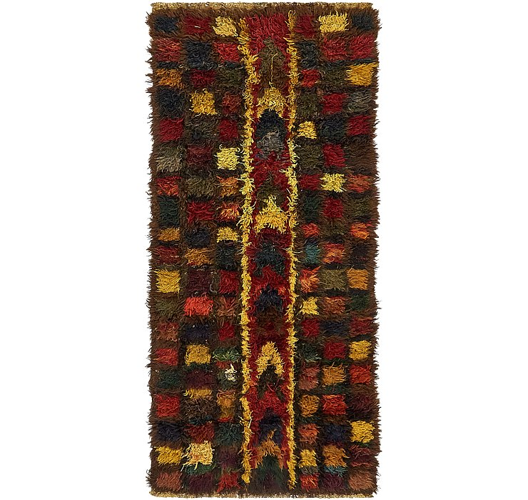 HandKnotted 3' x 7' Moroccan Runner Rug