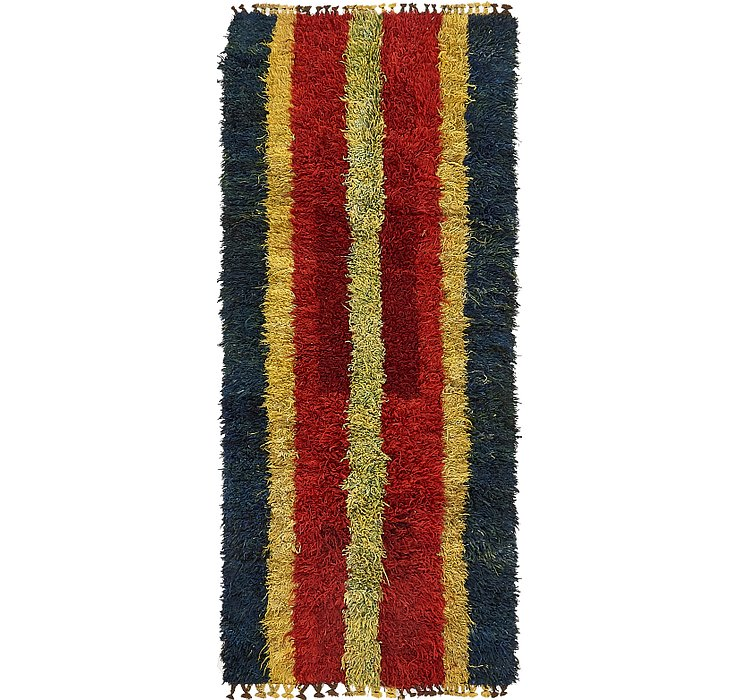 3' 4 x 7' 9 Moroccan Runner Rug