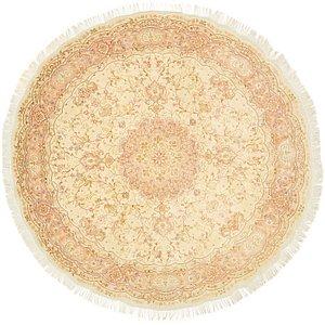 8' x 8' 3 Tabriz Persian Round Rug