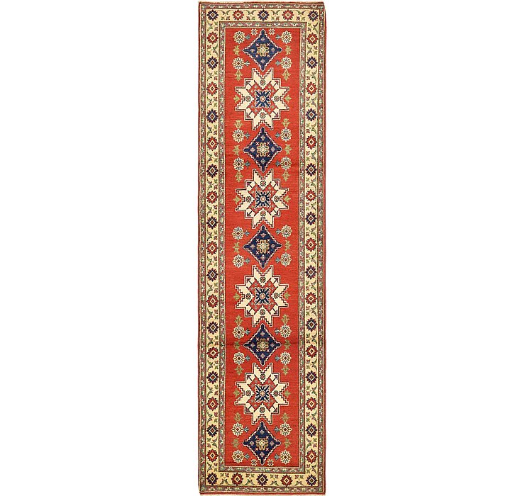 2' 8 x 10' 7 Kazak Oriental Runner Rug