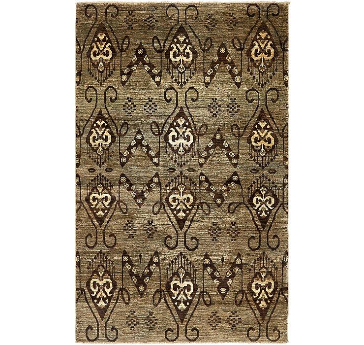 4' 6 x 7' Ikat Oriental Rug
