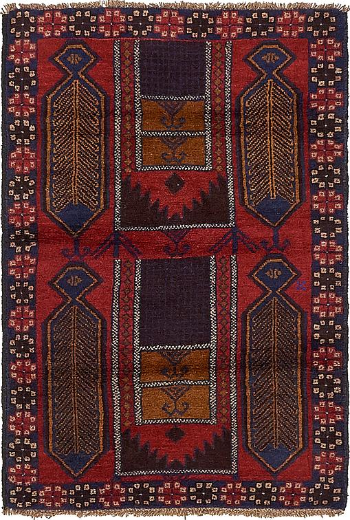 Red 3 2 X 4 9 Balouch Persian Rug Area Rugs Esalerugs