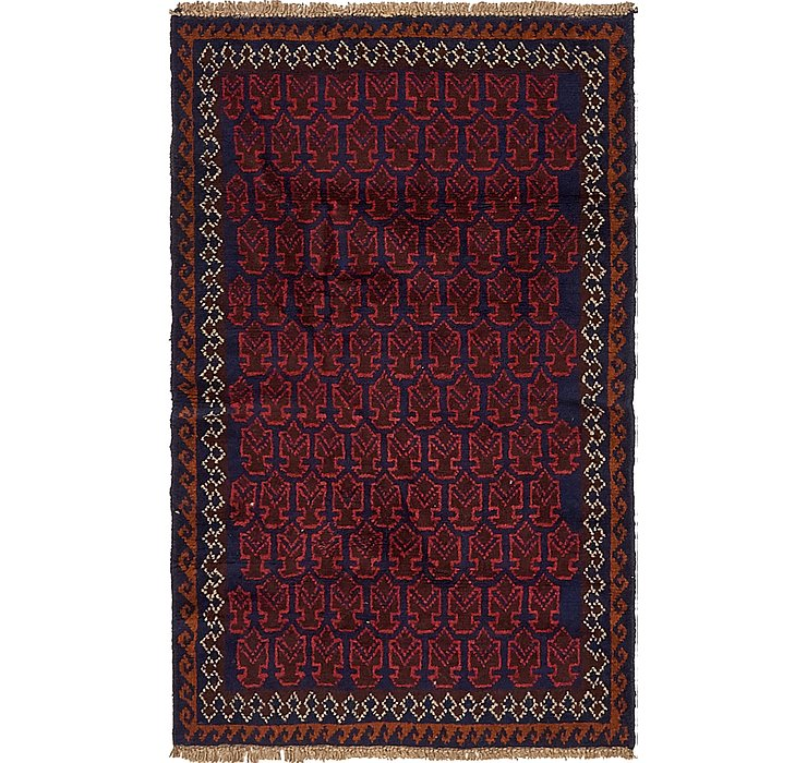 HandKnotted 3' x 4' 10 Balouch Persian Rug