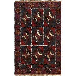 Unique Loom 3' x 4' 9 Balouch Persian Rug