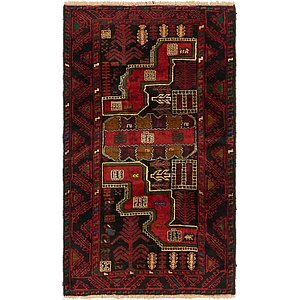 HandKnotted 2' 10 x 4' 10 Balouch Persian Rug