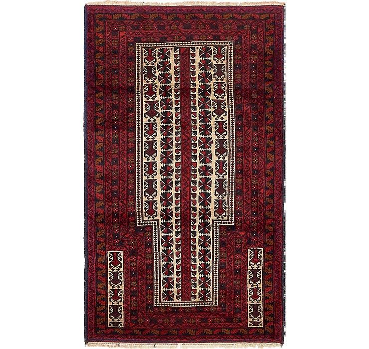 3' x 5' 3 Balouch Persian Rug
