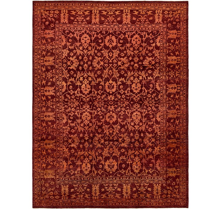 9' x 12' 2 Over-Dyed Ziegler Rug