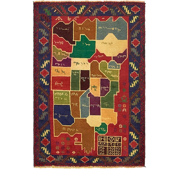 HandKnotted 3' x 4' 4 Balouch Persian Rug