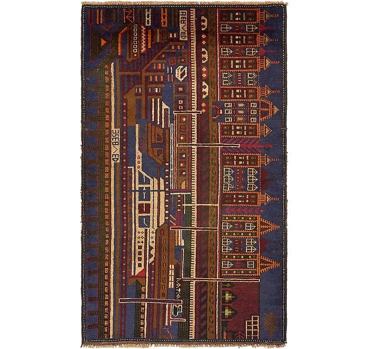 3' x 5' Balouch Persian Rug