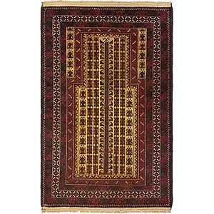 Unique Loom 2' 10 x 4' 5 Balouch Persian Rug