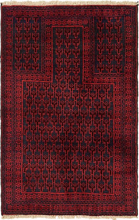 Red 2 9 X 4 4 Balouch Persian Rug Area Rugs Esalerugs