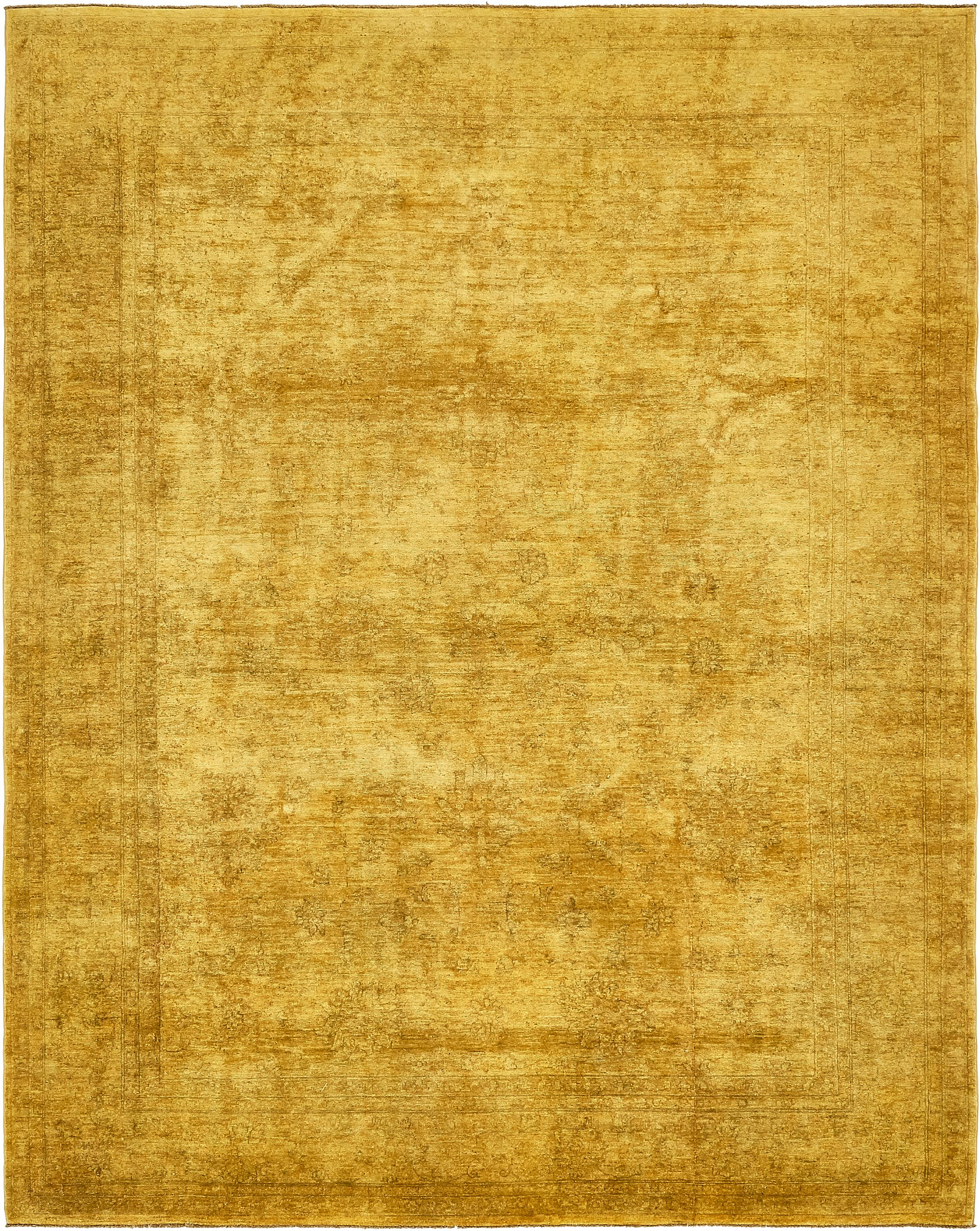 Gold 7 7 X 9 8 Over Dyed Ziegler Rug Esalerugs