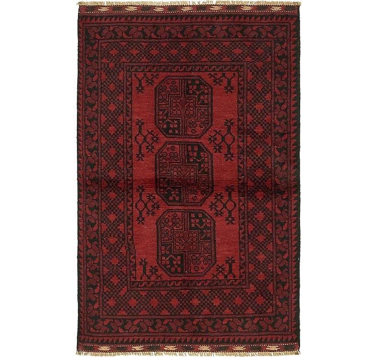 3' 2 x 5' Afghan Akhche Rug