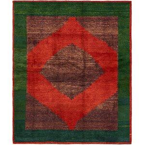 6' 7 x 8' Shiraz-Gabbeh Persian Rug