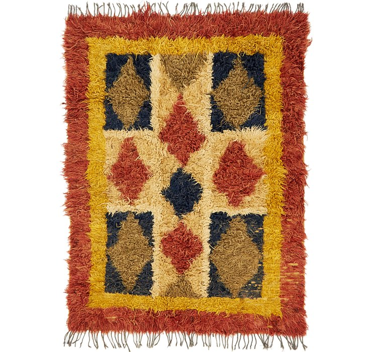 HandKnotted 6' x 8' Moroccan Rug