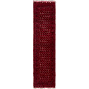 HandKnotted 3' x 12' 8 Afghan Mouri Oriental R...