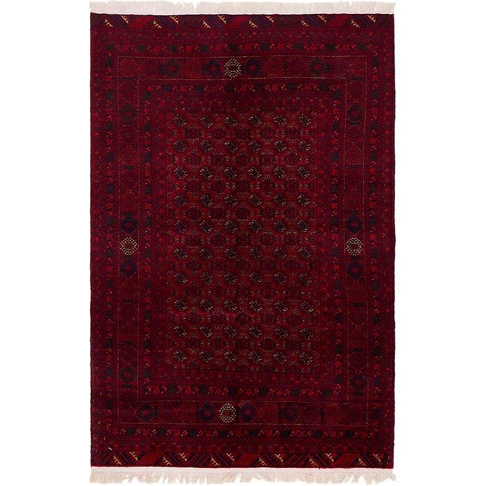 4' x 6' 3 Afghan Mouri Oriental Rug