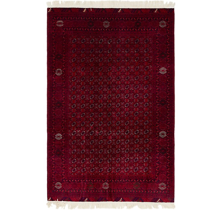 4' 2 x 6' 5 Afghan Mouri Oriental Rug