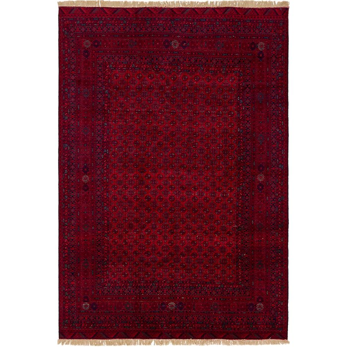 6' 7 x 9' 8 Afghan Mouri Oriental Rug