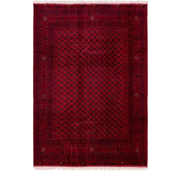198cm x 295cm Afghan Mouri Oriental Rug