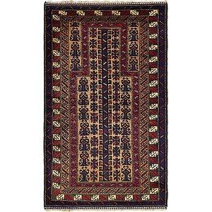 Unique Loom 2' 10 x 5' Balouch Persian Rug