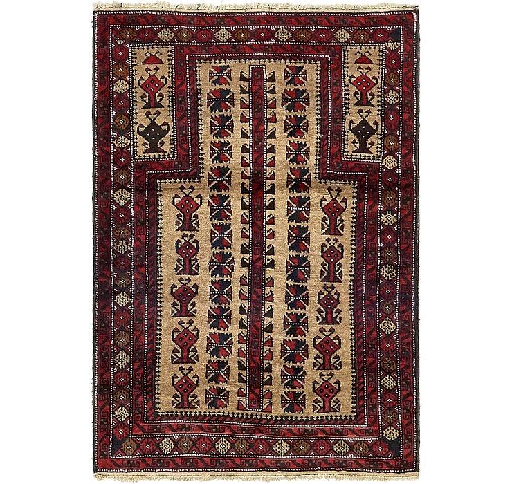 3' x 4' 3 Balouch Persian Rug