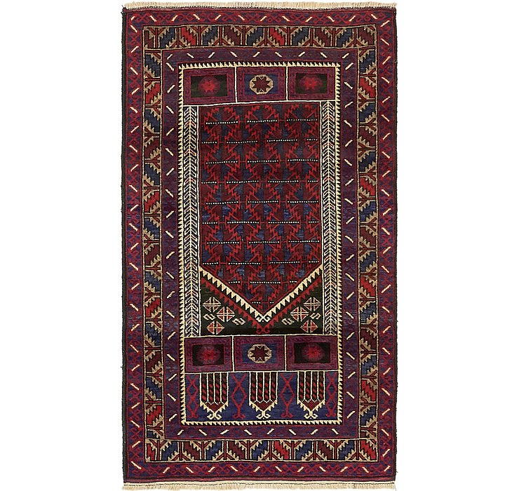 HandKnotted 2' 9 x 5' Balouch Persian Rug