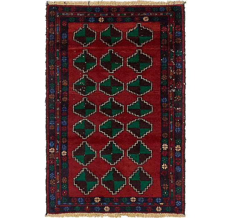 HandKnotted 2' 9 x 4' 2 Balouch Persian Rug