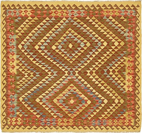 Cream 4 10 X 5 4 Kilim Maymana Square Rug Area Rugs