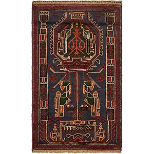 Unique Loom 2' 10 x 4' 10 Balouch Persian Rug
