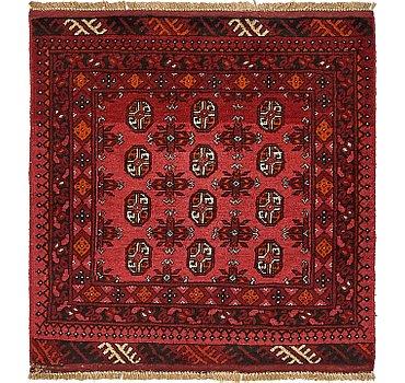 104x109 Afghan Akhche Rug