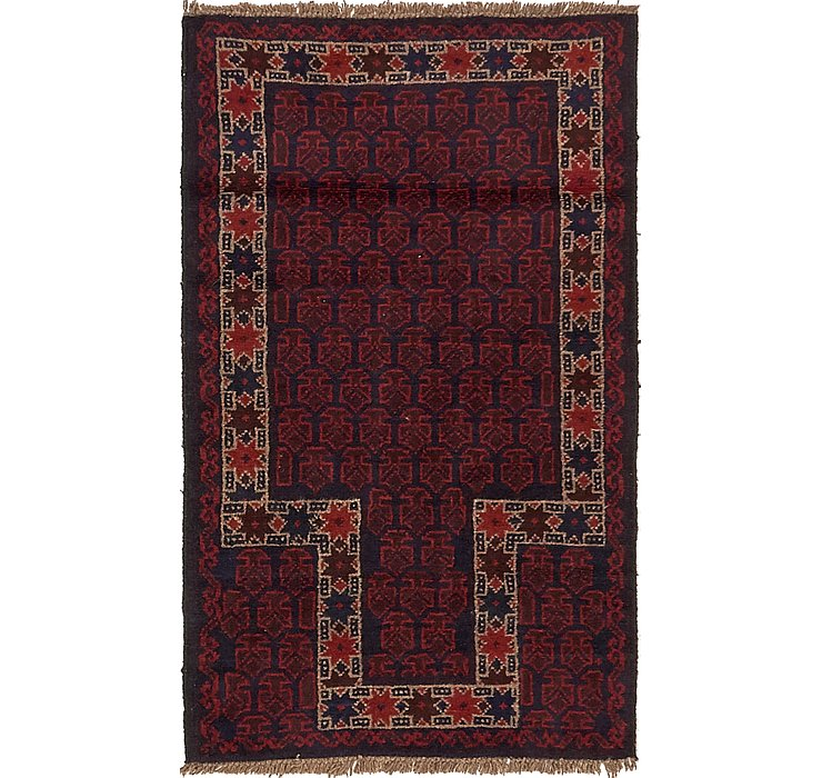 2' 9 x 4' 7 Balouch Persian Rug