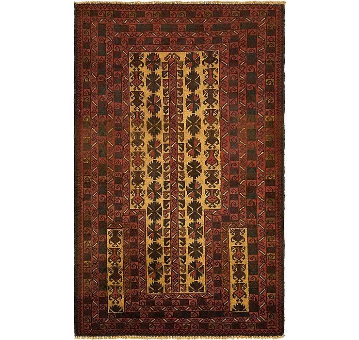 3' 3 x 4' 10 Balouch Persian Rug