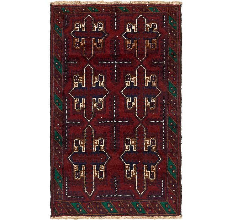 HandKnotted 3' x 5' Balouch Persian Rug