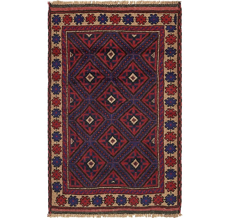 HandKnotted 3' x 4' 8 Balouch Persian Rug